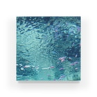 CALMYのピンクパープル熱帯魚 Acrylic Block