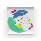 mya-mya=MIYA JUNKO's shop 02のクマとクマでぐるぐる Acrylic Block