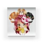 きゃぴあてれび♥ショップのハッピーアニマル(初期限定デザイン|キャバリア・インコ・犬・鳥) Acrylic Block