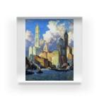 世界の絵画アートグッズのコリン・キャンベル・クーパー 《ハドソン河畔》 Acrylic Block