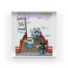 にゃーにゃー組@LINEスタンプ*絵文字販売中!のにゃーにゃー組*藤と太鼓橋で待つ! Acrylic Block