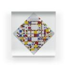 世界の絵画アートグッズのピート・モンドリアン《勝利のブギウギ》 Acrylic Block