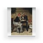 世界の絵画アートグッズのヴィルヘルム・ローゼンスタンド《コペンハーゲン、カフェ・ア・ポルタの外で》 Acrylic Block