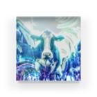 牛のTシャツ屋の牛170527b Acrylic Block