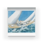 世界の絵画アートグッズのルイ・イカール《ヨットレース》 Acrylic Block