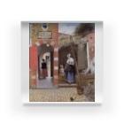 世界の絵画アートグッズのピーテル・デ・ホーホ 《デルフトの中庭》 Acrylic Block