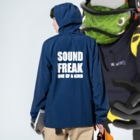 soundfreakのone of a kind Anorakの着用イメージ(裏面)