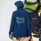 kyonophotoのバットとボールで描いた「BaseBall」 Anorakの着用イメージ(裏面)