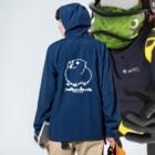 Lichtmuhleの2020年モルモットパラダイス グッズ 黒系 Anorakの着用イメージ(裏面)