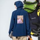 昭和~平成~令和系のりさぴん@の保護猫 セサミくん Anorakの着用イメージ(裏面)