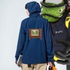 illust_designs_labのレトロな昭和のオーディオテレビのイラスト 脚付き  Anorakの着用イメージ(裏面)