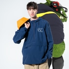 tacast放送局/教素のEscくん(くらしっく:墨) Anorakの着用イメージ(表面)