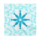 motchamのハワイアンキルト風? 魚と波の幾何学模様 Bandana