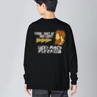 schwartz supply.のLPPC看板 濃色用 Big silhouette long sleeve T-shirts
