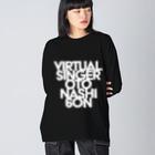 音無むおん⚡ショップSUZURI店の音無むおん タイプA ビッグシルエットロングスリーブTシャツ Big silhouette long sleeve T-shirts