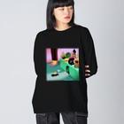 Ran KobayashiのPeek-A-Boo Big silhouette long sleeve T-shirts