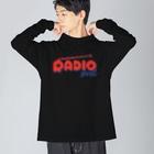 ねこぜもんのRADIO girl Big silhouette long sleeve T-shirts