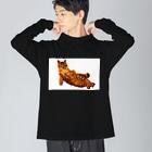 Elegant  CatのElegant Cat Big silhouette long sleeve T-shirts