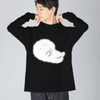 ヒャナヒュ-の眠るかきもちくん Big silhouette long sleeve T-shirts