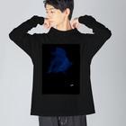 猟奇的彼女の闘魚 Big silhouette long sleeve T-shirts