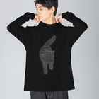 Kelfoy.@統合失調症のしろねこ Big silhouette long sleeve T-shirts