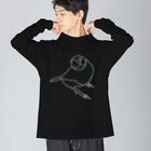 PiZakkuの君のそばに 線画 Big silhouette long sleeve T-shirts