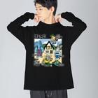 THE DOUBUTSU-ZOO SHOPのHOME4c Big silhouette long sleeve T-shirts
