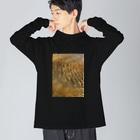 Wave8284の川の波紋 Big silhouette long sleeve T-shirts