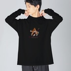 わっとのnormal Big silhouette long sleeve T-shirts
