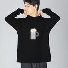 グラフィンのエネルギーメーター ビール エンプティ Big silhouette long sleeve T-shirts
