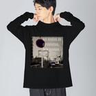 oka__のモノクロ Big Long Sleeve T-shirt