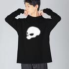 トシヤマダ・グラフィティのどくろおらおらくん Big silhouette long sleeve T-shirts