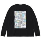 fig-tree_SUZURI▲のスクエアボックス Big silhouette long sleeve T-shirts