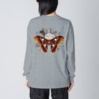 OJIKのヨナグニサン【バックプリント】 Big silhouette long sleeve T-shirts
