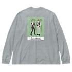よしもと芸人オフィシャルショップのzakkaYOSHIMOTO アインシュタイン Big silhouette long sleeve T-shirts