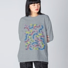 Ran KobayashiのうねうねPOP Big silhouette long sleeve T-shirts