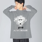 mya-mya=MIYA JUNKO's shop 02のyes, I am a DOG PERSON. / ver.3 Big silhouette long sleeve T-shirts
