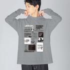 PANDA panda LIFE***のロゴロゴ パンダ Big silhouette long sleeve T-shirts