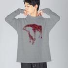 つかだ かおりのgiraffe  love Big silhouette long sleeve T-shirts