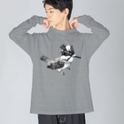 紫乃のキリッとしたヤマセミ Big silhouette long sleeve T-shirts
