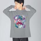 Makiko KodamaのStreetは宇宙 Big silhouette long sleeve T-shirts