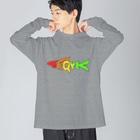 TuneBsideのSHARK Big silhouette long sleeve T-shirts