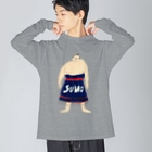 aeiuoのSUMO Big silhouette long sleeve T-shirts