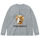 CHAX COLONY imaginariの【各20点限定】クマキカイ(1 / No longer needed me...?) Big silhouette long sleeve T-shirts