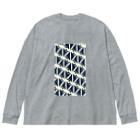 気ままに創作 よろず堂のサーヴィエ行進曲 藍 Big silhouette long sleeve T-shirts