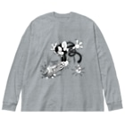 Booty the baby baboonの24T №20 ロックンロール Big silhouette long sleeve T-shirts