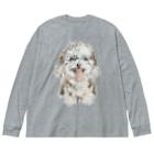 erichandmade × eric_joy_のわたがしけん Big Silhouette Long Sleeve T-Shirt