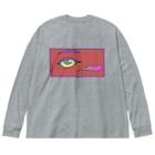 QB🦖のEYE Big Silhouette Long Sleeve T-Shirt