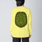 みのじのアカミミガメ Big silhouette long sleeve T-shirts