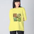 壊レタ歯車の差別、敵意-200122 Big silhouette long sleeve T-shirts